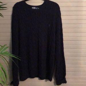 Men's Navy Blue Ralph Lauren Sweater